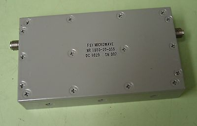 Spectrum FSY Microwave 1880 MHZ RF Band Reject Filter
