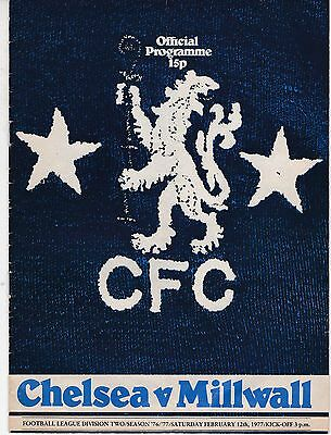Chelsea V Millwall  Division Two 12/2/77