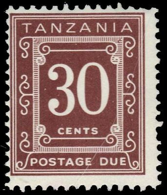 """TANZANIA J4b (SG D10A) - Numeral of Value """"Postage Due"""" (pf1855)"""