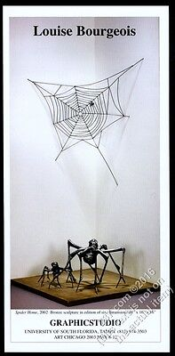 2003 Louise Bourgeois Spider Home & web sculpture photo vintage print ad