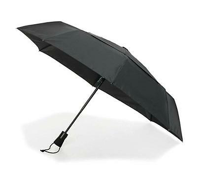 NEW! ShedRain Ultimate Umbrella Black Automatic Open & Close 47.3 in/1.2 M arc