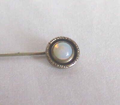 Vintage Victorian Silver Cased Opal Stick Pin