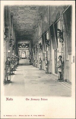 Ansichtskarte Valletta The Armoury Palace 1909