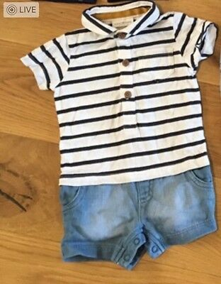 Baby Boys 3-6 Months Summer Short Outfit Romper All In One Next