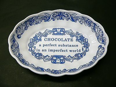 Spode Blue Room Collection - Chocolate / Chocoholic - Oval Dish / Bowl / Plate