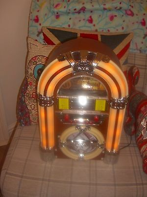 Retro Table Top C.d Jukebox With Lights
