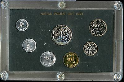 1971 Nepal Proof Coin Set - Collection - SZ025