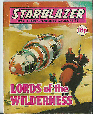 Lords Of The Wilderness,starblazer Space Fiction Adventure Pictures,no.63,1981