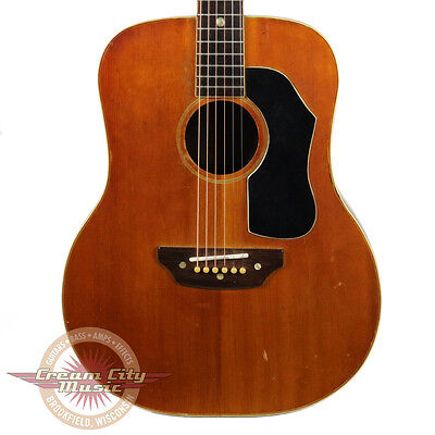 Vintage 1960's Gallagher Shelby S321 Western Dreadnougnt Acoustic Guitar