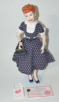 "I Love Lucy Lucille Ball Porcelain 18"" Collector's Doll Hamilton Collection 1990"