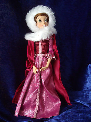 "Belle Doll toy figure Disney Beauty and the Beast new 30"" +2 Dresses + shoes"