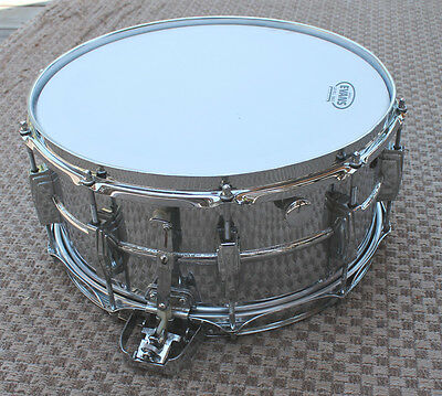 VINTAGE 1960s Keystone Ludwig 14 x 6.5 Super Sensitive 10 Lug Chrome Snare Drum