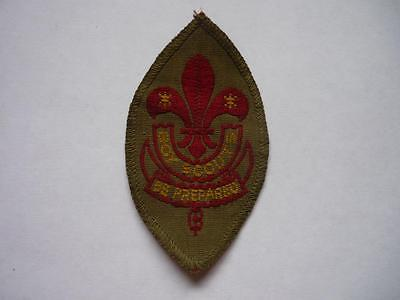 Vintage  Boy Scout First Class Badge with Brown Back