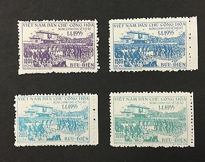 {BJ Stamps} NORTH VIETNAM, #28-31, FVF, Mint No Gum, as issued, NH, CV $257.50.