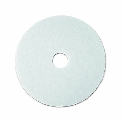 "3M White Super Polish Pad 4100 20"" Floor Pad Machine Use (Case of 5) 20 i..."