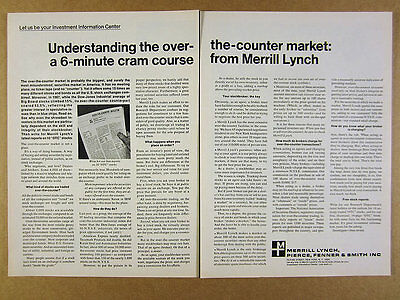 1968 MERRILL LYNCH Over-the-Counter Stocks Securities Market vintage print Ad