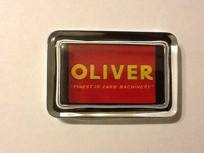 Oliver Tractor Logo Farm Machinery Equipment Advertising Sign Glass Paperweight