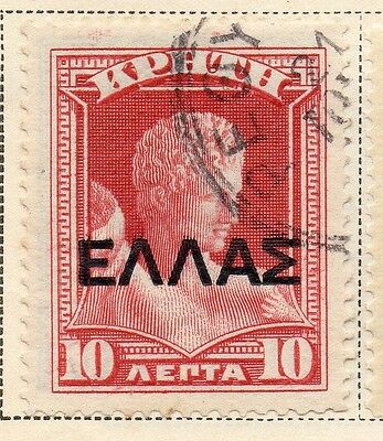Crete 1909 Early Issue Fine Used 10L. Optd 168179