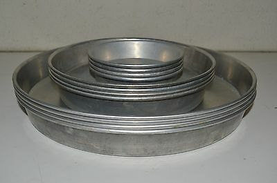Nice Vintage American Metalcraft Aluminum Deep Dish Pizza Baking Pans Lot of 12