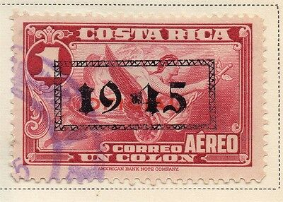 Costa Rica 1945-46 Early Issue Fine Used 1C. Optd 168299