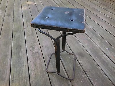Antique Buffington Steel Folding Chair Stool Seat