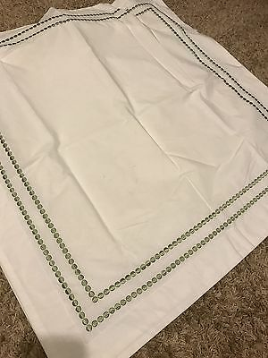 Pottery Barn Pearl Embroidered Euro Shams Sage Green Dot   Total 2 Shams