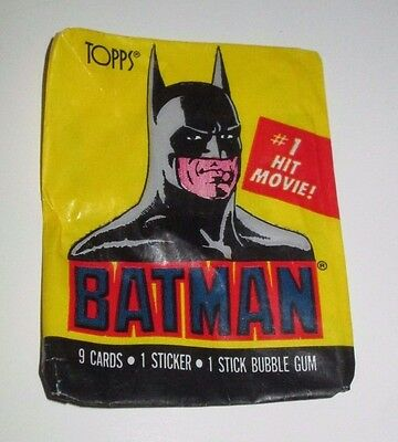 Topps 1989 Batman Movie Keaton Nicholson Trading Cards Empty Wax Wrappers (20)