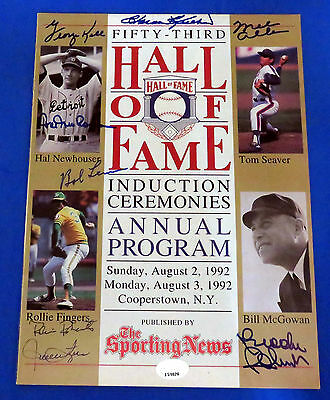 1992 SIGNED HOF PROGRAM -  8 AUTOGRAPHS ~ PSA/DNA # J51028 ~ Killebrew , Kell