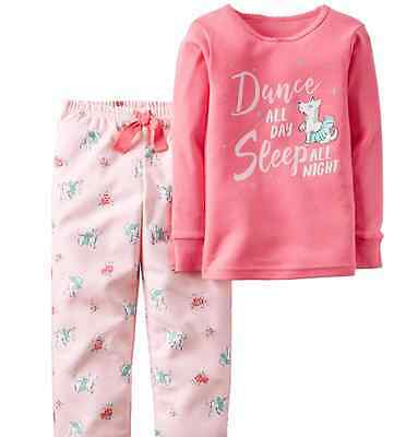 NWT Carter's 2 piece 2-pc. pajamas set DANCE ALL DAY cute dogs sz. 4T 4