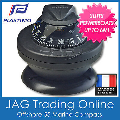 PLASTIMO OFFSHORE 55 BLACK COMPASS BRACKET MOUNT - Boat/Marine/Powerboats to 6M