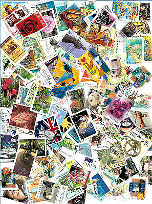 Australia 200 all different fine used stamps off paper