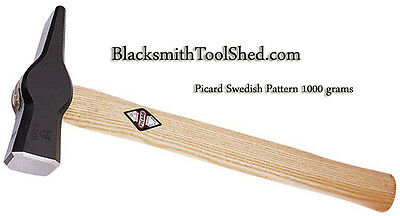 Picard Blacksmith Hammer Swedish style 1000 gm 2.2lbs  tong tool forge anvil NEW