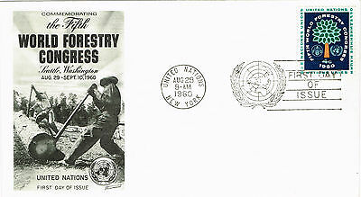 United Nations First Day Cover 1960 World Forestry Congress Seattle