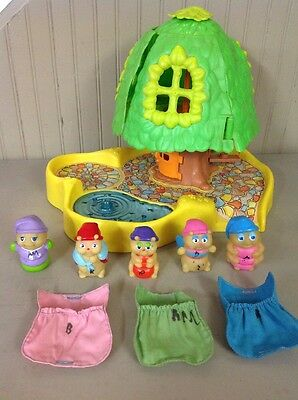 Vintage 1985 GLO WORM TREE Play HOUSE Set Glow Bugs