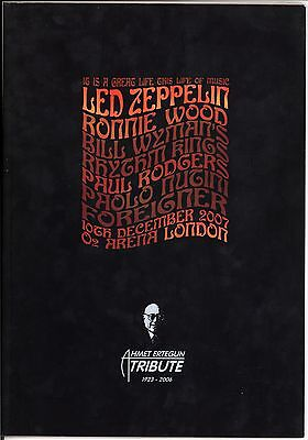 AWESOME Led Zeppelin O2 Tribute to Ahmet Ertegun Concert Softcover Tour Program!