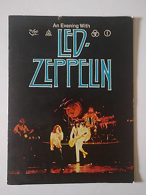 AWESOME An Evening With Led Zeppelin 1977 North American Tour Program! Repro