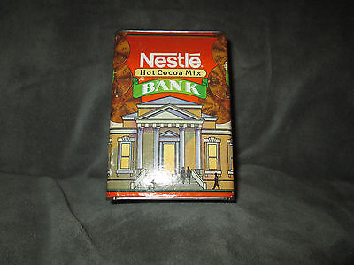 Vintage Nestle Hot Cocoa Mix Bank TIn & Paper