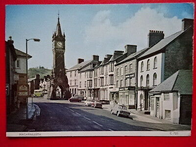 Postcard Montgomeryshire Machynlleth - View Towards The Clock