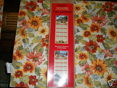 2001-2002 Coca-Cola Reversible Wall Scroll Calendar NIB