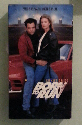 richard grieco  BORN TO RUN  shelli lether   VHS VIDEOTAPE
