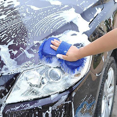 Wash Mit Cleaning   Microfibre Car Care  Polishing Duster Cloth Brush Glove