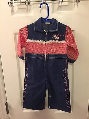 Toddle Tyke Vintage Baby Boy COWBOY Outfit 12M