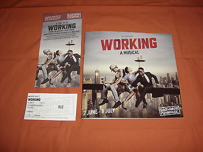 WORKING a musical  2017 London Theatre Programme *BRAND NEW*