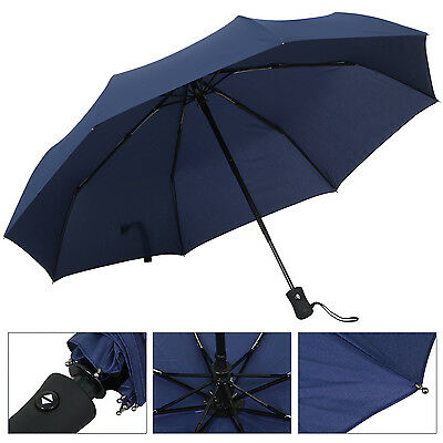 TRIXES Black Self Opening and Closing Large Extending Umbrella