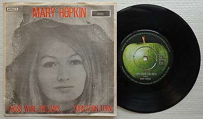 "MARY HOPKIN 'Those Were The Days' 1968 Danish 7""/45 rpm vinyl - PAUL McCARTNEY"