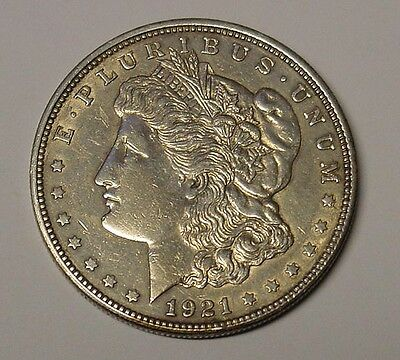 USA 1921 Morgan Silver Dollar, EF, last of the series.