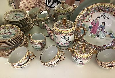 Great Qing Dynasty Chinese Egg Shell Tea Set