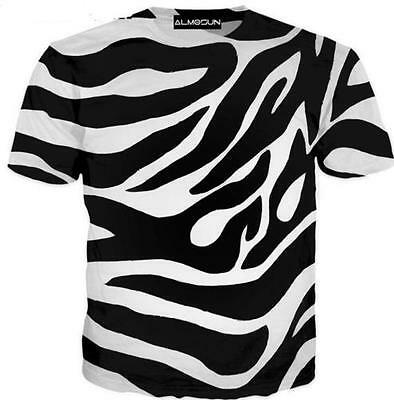 New Fashion Womens/Mens Zebra Line Stripe Funny 3D Print Casual T-Shirt  S-5XL