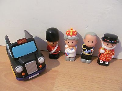 Elc Happyland London Themed Bundle With Taxi And Four Figures