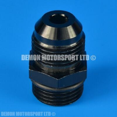 AN10 -10 to AN10 Straight Thread Adapter Fitting (Small 7mm Bore) Black + O Ring